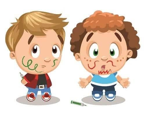 Дети с мозговыми дисфункциями обрисовали друг друга