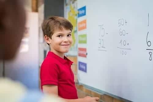 Мальчик правильно решил пример по математике