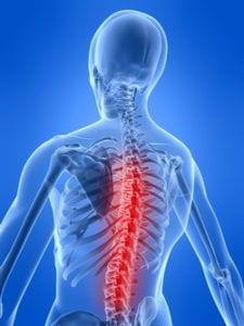 Боль в спине у челоловека с остеохондрозом