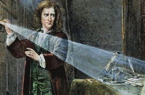Исаак Ньютон эксперименитрует