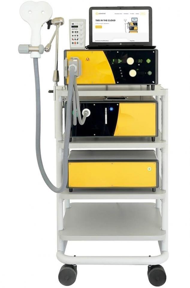 Три блока аппарата ТМС с двойной катушкой