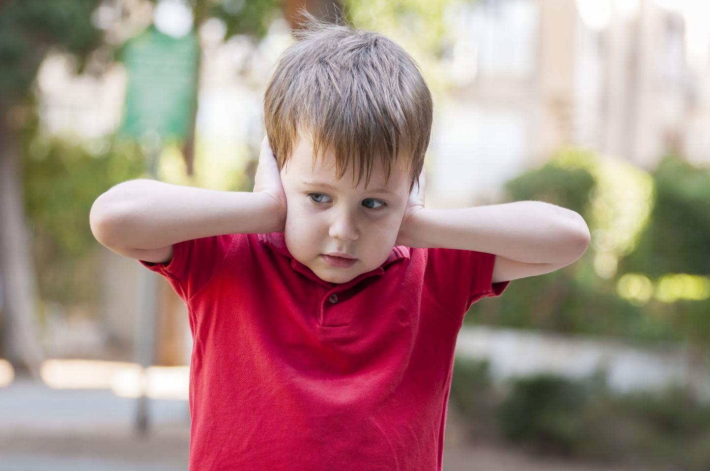 ребенок ничего не хочет слышать, закрыл уши руками