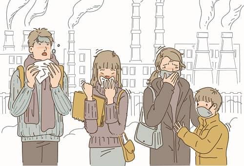 Плохая экология городских условиях
