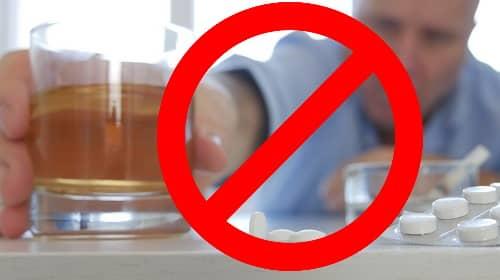Алкоголь с лекарствами от мигрени запрещен