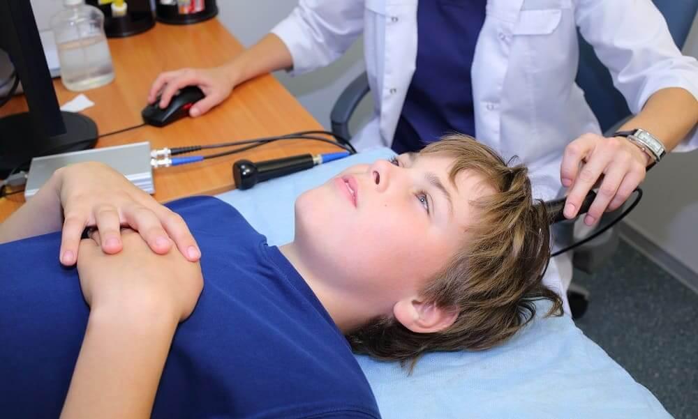 Эхоэнцефалография мальчику