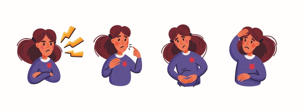 Голова, живот и натсроение страдают у жеенщин с ВСД