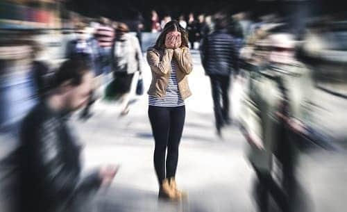 Панический приступ у женщины при ВСД