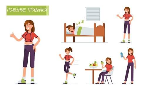 Набор здоровых привычек
