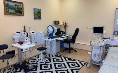 Кабинет офтальмолога и ультразвуки диагностики