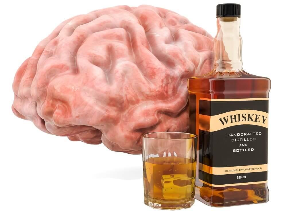 Алкоголь виски вызывает энцефалопатию