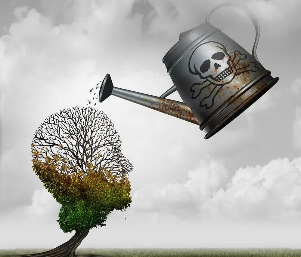 Отравление мозга токсинами извне