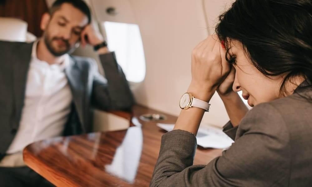 Приступ ВСД у женщины в полете