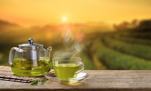 Зеленій чай в спокойной обстановке