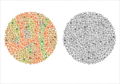 Аномалия цветовосприятия при неврите зрительного нерва
