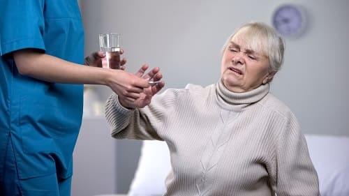 Лечение больного с поражением сосудов мозга