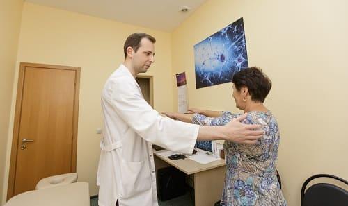 Осмотр пациентки с головокружением
