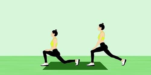 Упражнение выпады при ВСД