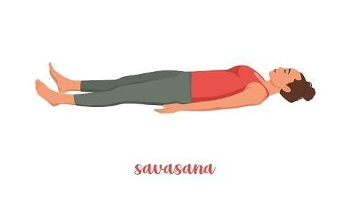 Поза йоги для успокоения