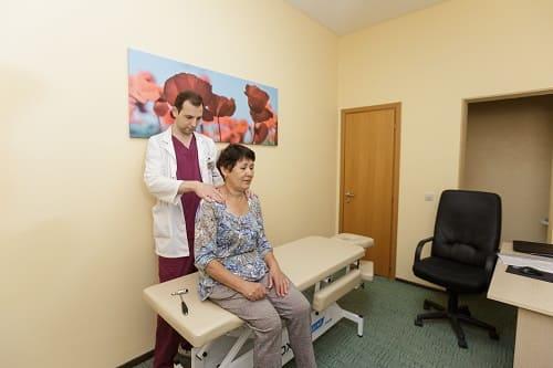 Осмотр при остеохондрозе