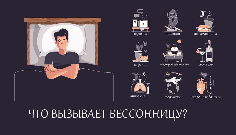 Главные причины мужской бессонницы